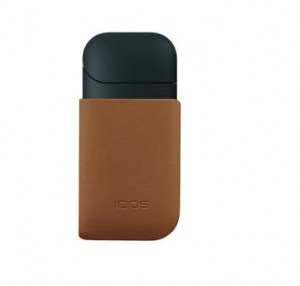 iQOS Clip in pelle Marrone